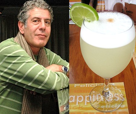 "Anthony Bourdain: ""El pisco sour chileno no vale la pena"""